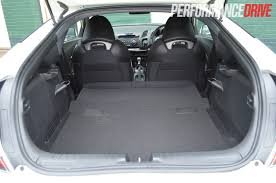 2012 Honda CR-Z Sport – back seat boot space |