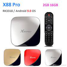 Compre TV Box De Android A Preço Baixo Para Uma Grande Poupança, X88 Pro  Android 9.0 TV BOX 2GB 16GB Rockchip RK3318 Quad Core 2.4G / 5G Dual Band  Wifi Youtube 4K