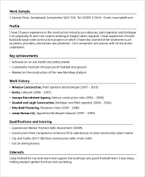 40 Sample Construction Resumes Sample Templates Enchanting Construction Resume Skills