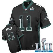 Fashion Football Sale 11 Philadelphia Bowl Eagles Jersey Super Men's Black Lii Elite Drift Carson Wentz