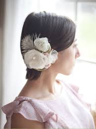 best 25 feather hair pieces ideas on pinterest fascinator Wedding Hair Pieces With Feathers wedding hair piece flower bridal headpiece feather hair clip, wedding hair accessories, ivory, pink and moss green, love is in bloom Flower and Feather Hair Pieces