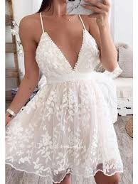 lace cute white summer dresses