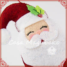 santa ornament sewing tutorial diy hand stitched ornament pdf file pattern casa magubako