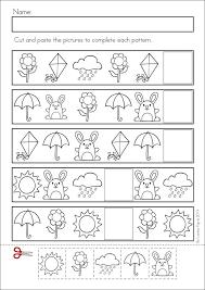 Pattern worksheet for kids | Crafts and Worksheets for Preschool ...