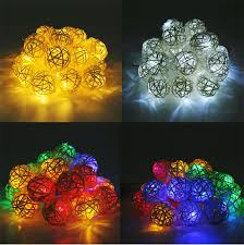 Decorative String Balls Magnificent Led Straw Rattan Ball String Lights Wedding Party Christmas Home