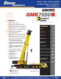 Grove Gmk7550 Crane Chart