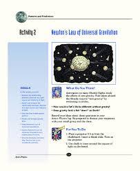 Newton    S Law Of Universal Gravitation  th   th Grade Worksheet Intrepidpath