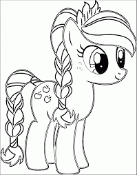 Coloring Pages Classy Pony Coloring Book Cartoon My Little Page