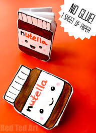 nutella notebook diy you only need one sheet of paper for this cute mini notebook