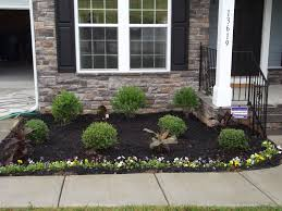 Decoration And Design Building Front Yard Landscaping Ideas With Black Mulch Idolza 99