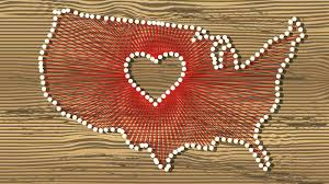 diy string art tutorial state themed