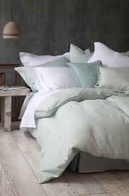 mm linen laundered chambray duvet cover set covers