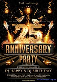 60 Best Anniversary Party Flyer Print Templates 2019 Frip In