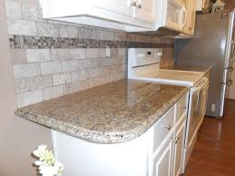 Granite Kitchen Tiles New Venetian Gold Granite Counter Tops Ogee Edge 3x6 Walnut