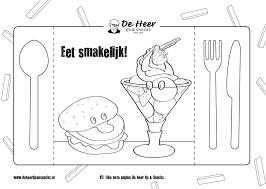 Kleurplaat De Heer Ijs Snack Specialiteiten Winterswijk