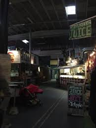food stalls inside the warehouse