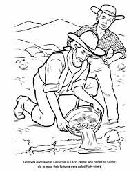 Small Picture USA Printables Gold Panning US History Coloring Pages