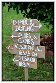 rustic wedding signs reclaimed wood directional arrow wooden sign reception signs