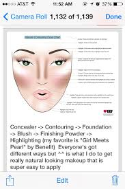 Natural Contouring Face Chart By