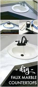 can you paint bathroom countertops how to paint your to look like marble bathroom makeover on