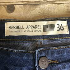 Barbell Jeans Size Chart Barbell Apparel
