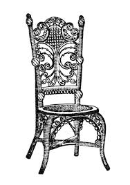 rocking chair clipart. S-caned-free-chair-clipart-black-and-white- Rocking Chair Clipart S