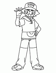 Small Picture Alluring Pokemon Coloring Pages Ash 12 mosatt