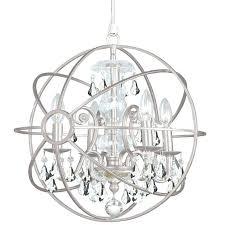 crystorama solaris chandelier 4 light clear crystal silver mini chandelier crystorama lighting 9226 eb solaris chandelier