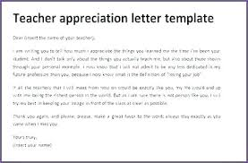Letters For A Teacher Teacher Appreciation Letter From Student To Teachers Letters