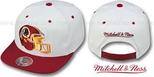 amp; Snapback Adjustable Mitchell Washington White-burgundy Redskins By Hat Xl-helmet Ness 2t