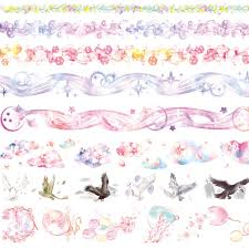 8Style Lace/Birds/<b>Flowers</b>/Balloon/Star/Eagle <b>Japanese Decorative</b> ...