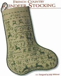 French Country Reindeer Stocking