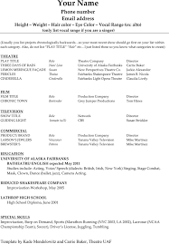 qualifications resume acting resume template theater audition resume format technical theatre resume templates audition resume format