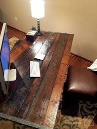 rustic office desk. DIY Rustic Office Desk E