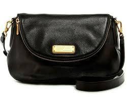 marc jacobs new q natasha classic pebbled leather flap cross bag black