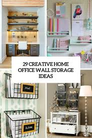 home office shelving solutions. 29 Creative Home Office Wall Storage Ideas Shelterness Inside Dimensions 735 X 1102 Shelving Solutions O