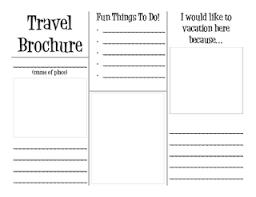 How To Make Travel Brochure Travel Brochure Writers Workshop Social Studies Teaching