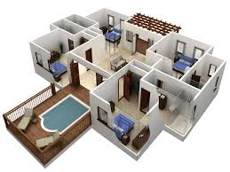 autocad floor plan to 3d