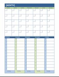 planners weekly monthly monthly and weekly planning calendar