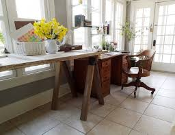 diy desk cost. Tutorial To Build This $30 Sawhorse Table That\u0027s Perfect For Modern Or Rustic Decor Diy Desk Cost R