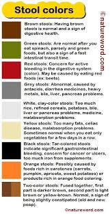 stool colors what they mean natureword