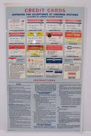 orig 1960s chevron credit cards sign gas station repair sohio imperial fina ebay