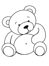 Bear with a honey beehive. Bears To Print For Free Bears Kids Coloring Pages