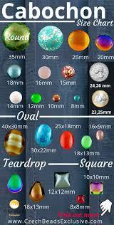 Cabochon Size Chart What Is A Cabochon Czech Glass Size Shape Color Charts