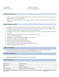 Sap Fico Resume With 3 Years Experience Instant Download Resume