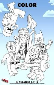 The Lego Movie Coloring Page Color In The Movie Free Printable