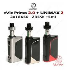 unimax. evic primo 2.0 228w + unimax 2 full kit by joyetech unimax