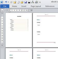 microsoft word teplates create an e book template in microsoft word