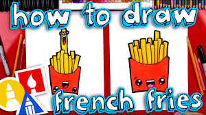 Art For Kids How To Draw Funny French Fries Youtube