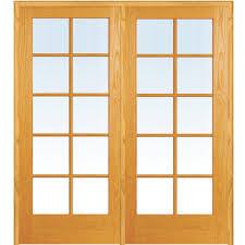 door. 60 In. X 80 Left Hand Active Unfinished Pine Glass Door